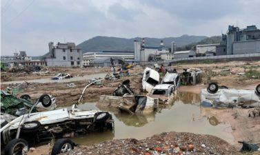 """[GT Online] Mihe Town Became an """"Island"""" After Being Hit by a Huge Flood"""