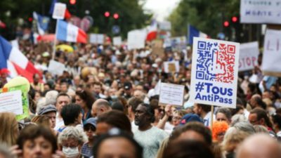 Hundreds Of Thousands Of People Protest All Over Europe Against The Experimental Vaccines