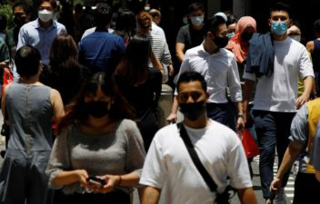 New infections number of the COVID-19  in a single day in Singapore reached the highest value since April last year