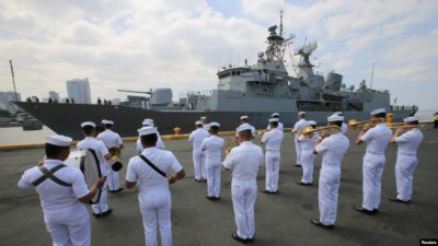 Broadcast New Zealand Frigate Joins British Aircraft Carrier Formation Through South China Sea