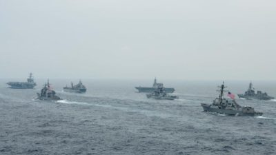 Preventing the CCP's Maritime Hegemony, the United States, Japan, India, and Australia Launch Joint Military Exercises